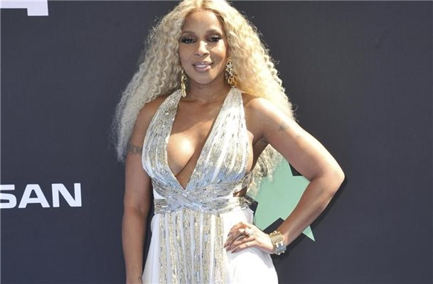 Der Star des Abends: Mary J. Blige bei den BET Awards im Microsoft Theater in Los Angeles. Foto: Richard Shotwell