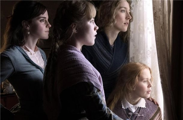 Die vier Schwestern Meg March (Emma Watson) (l-r), Amy March (Florence Pugh), Jo March (Saoirse Ronan) und Beth March (Eliza Scanlen) schlagen sich mit ihrer Mutter im ländlichen Massachusetts durch. Foto: Wilson Webb/Sony Pictures /dpa