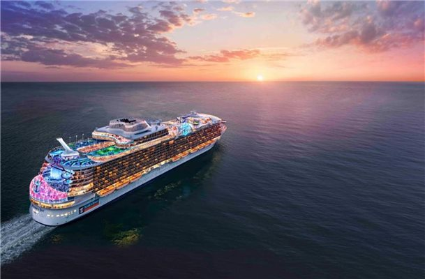 "Die ""Wonder of the Seas"" wird 2021 in See stechen und nach jetzigem Stand das größte Kreuzfahrtschiff der Welt sein. Foto: Press Center Royal Caribbean International/dpa-tmn"