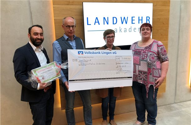 Landwehr spendet 2000 Euro an Elterninitiative Kinderkrebs